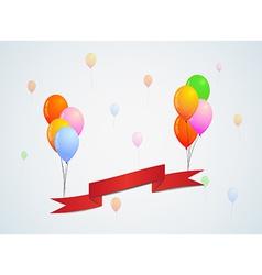 balloons and ribbon vector image