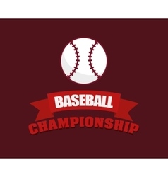 Baseball championship ball vector