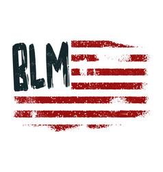 Black lives matter symbol american flag vector