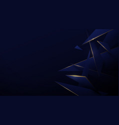 blue and gold low poly abstract technology vector image