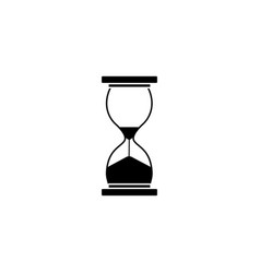 business time management and deadline solid icon vector image