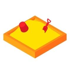 Children sandpit icon cartoon style vector