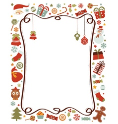 christmas border royalty free vector image vectorstock
