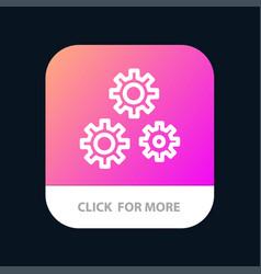 Configuration gears preferences service mobile vector
