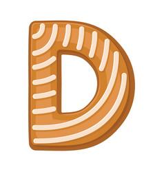 Cookies in shape letter d vector