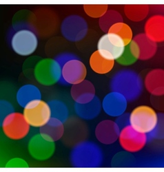 Defocused christmas lights blur background vector