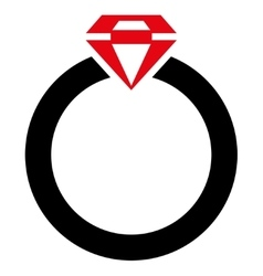Diamond Ring Icon from Commerce Set vector image