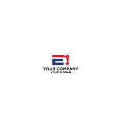e excavator logo design vector image