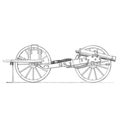 Field gun vintage engraving vector