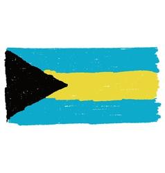 Flag the bahamas handmade vector