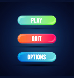 flat gradient coloful button for mobile web game vector image