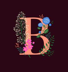 Floral monogram-b vector