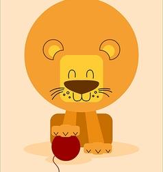 Friendly lion vector