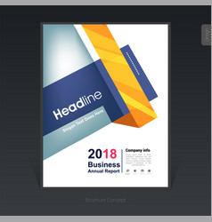 geometric colorful business brochure cover vector image