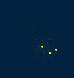 Graffiti small detail in yellow over deep blue vector