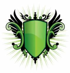 green herald vector image