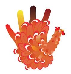 Grunge Hand Chicken vector
