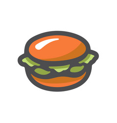 hamburger fast food burger cartoon vector image