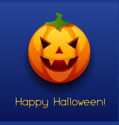 Happy halloween angry pumpkin vector