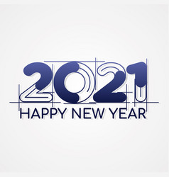Happy new year 2021 architectural style vector