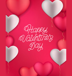 happy valentines day hand written lettering vector image
