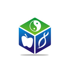 healthy care synergy vector image