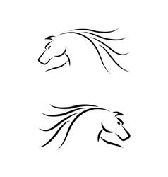 Horse Emblem Set vector image