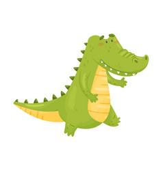 Humanized crocodile is coming vector