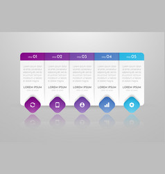 Infographic concept design with 5 options vector