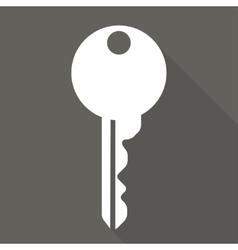 Key icon door lock symbol vector
