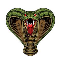 King cobra head mascot logo vector