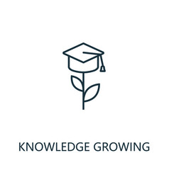 knowledge growing outline icon thin line concept vector image
