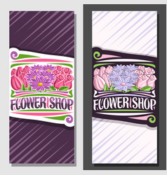 Layouts for flower shop vector