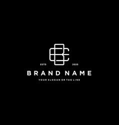 Letter bc logo icon design vector