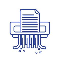 Line office paper shredder machine design vector