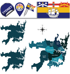 Map sydney vector