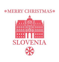 Merry Christmas Slovenia vector image