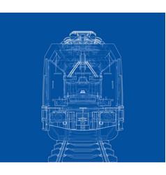 Modern train concept vector