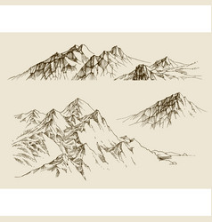 Mountains ranges set a collection nature vector