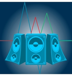 Music speakers vector image