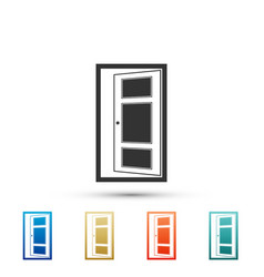 open door icon isolated on white background vector image