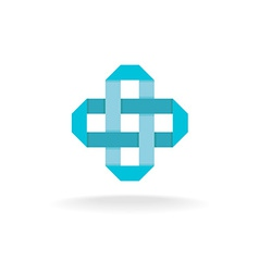 Pharmaceutical cross logo vector image