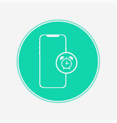 phone with alarm icon sign symbol vector image