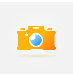 Photo camera simple logo vector image
