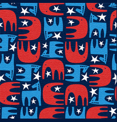 political pattern donkey and elephant vector image