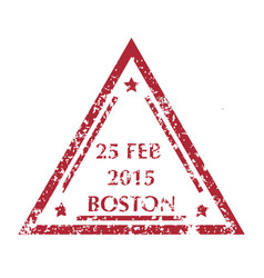 postal stamp from boston vector image