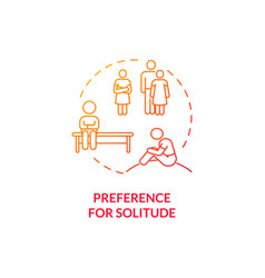 Preference for solitude in autism concept icon vector