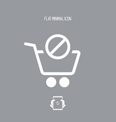 Product not available icon vector