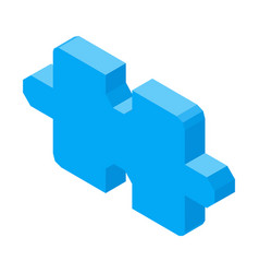 Puzzle piece 3d icon isolated vector