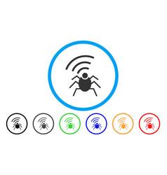 radio spy bug rounded icon vector image